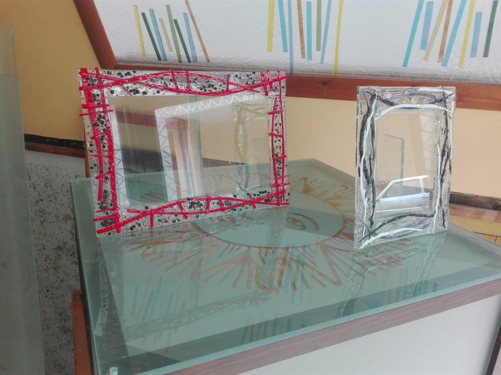 Portafoto da tavolo in vetro