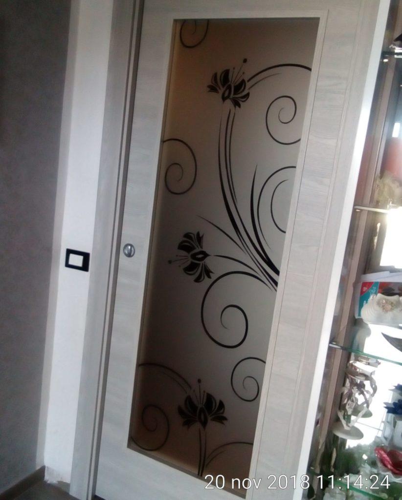 Vetro per porta in legno