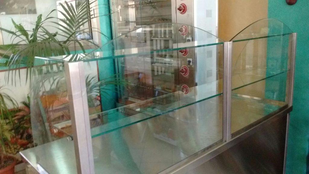 Espositore per bancone in vetro