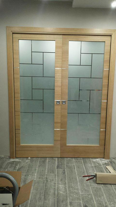 Vetri per porta in legno