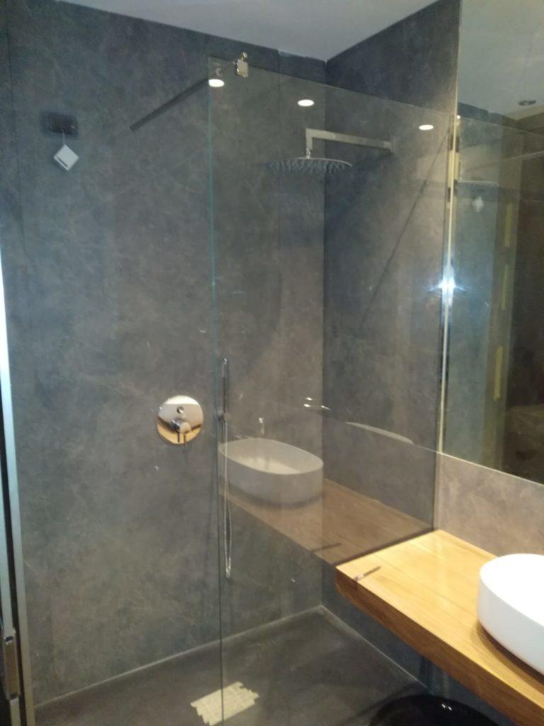 Parete fissa per doccia in vetro 8mm trasparente temperato