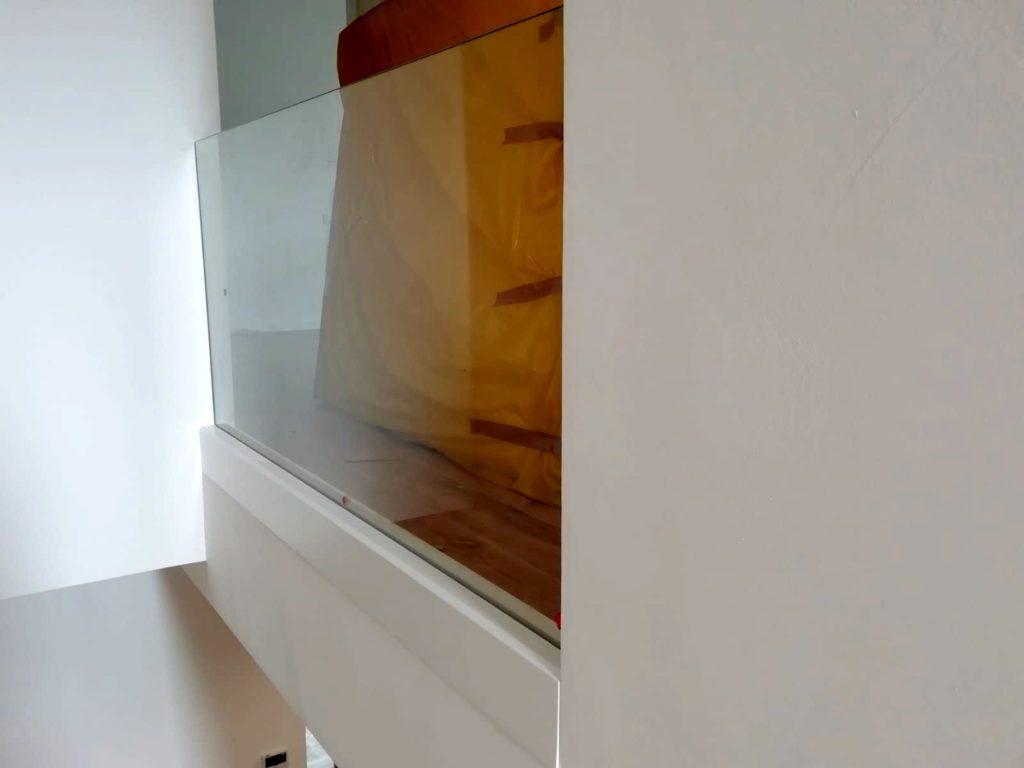 Parapetti in vetro temperato per scala interna
